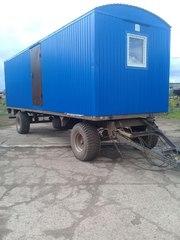 Вагон-дом на прицеп шасси колесах для проживания