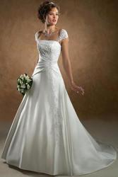свадебное платье. Цвет белый. Размер 42-44,  рост 165.